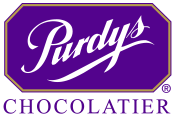 purdys purple logo with purple